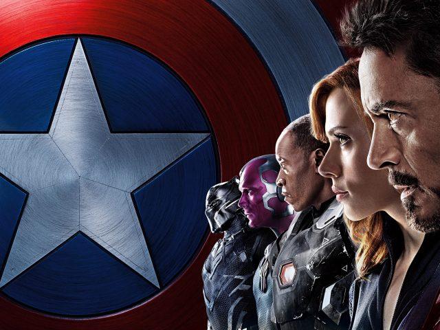 Капитан Америка Железный человек команда гражданской войны.