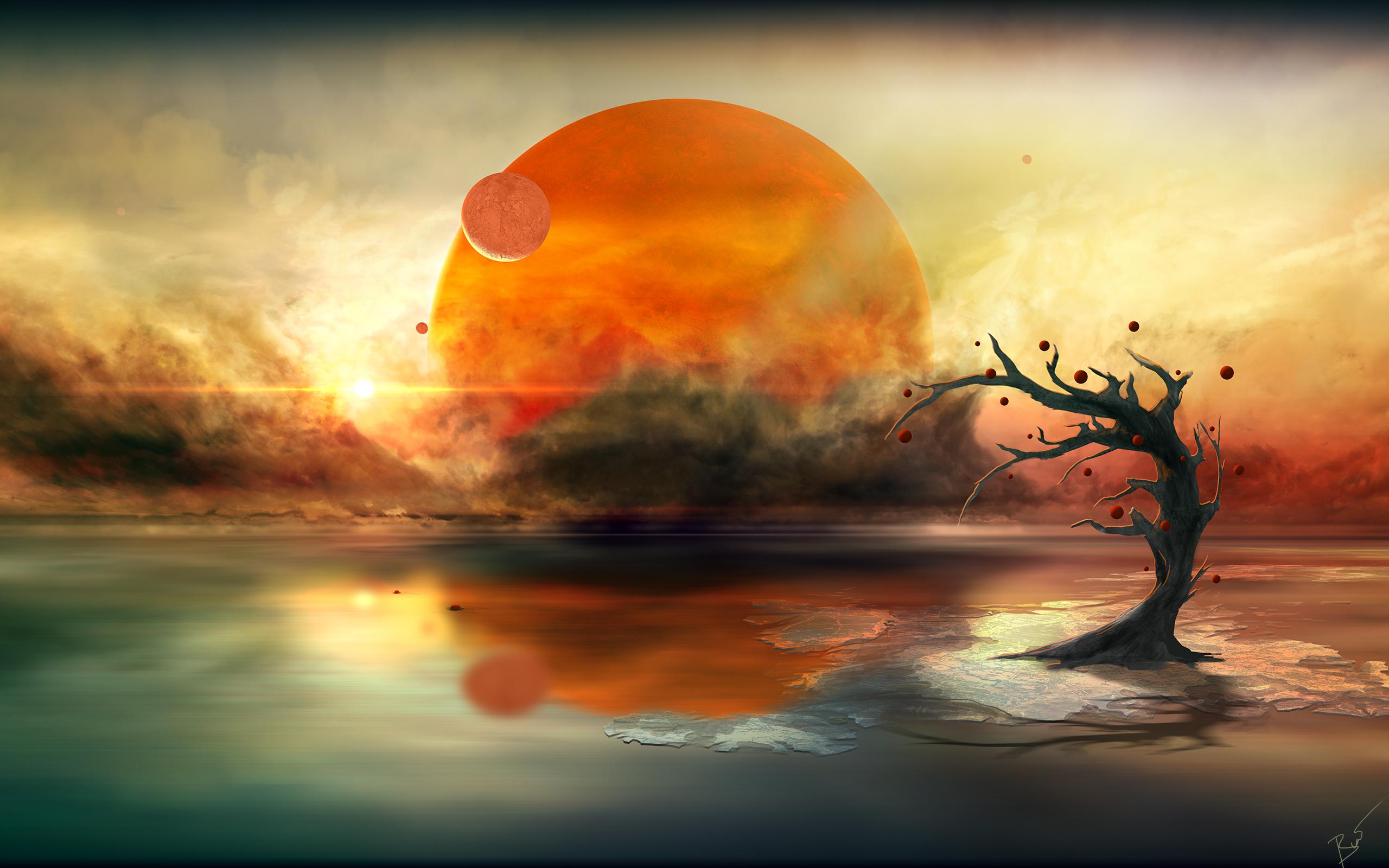 Отражения планеты обои скачать