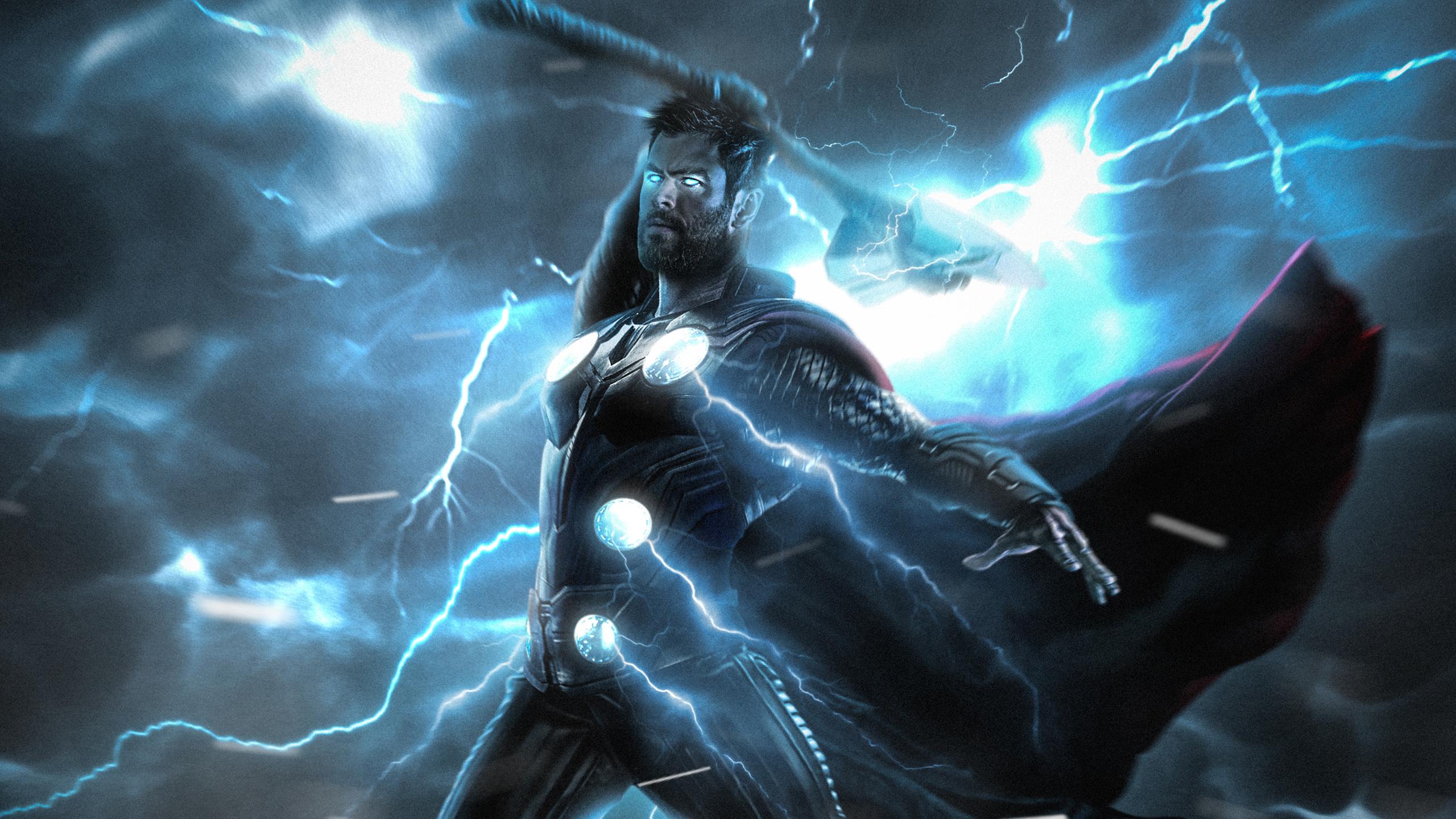 Удар молнии Тора обои скачать