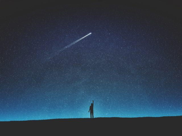 Силуэт падающей звезды