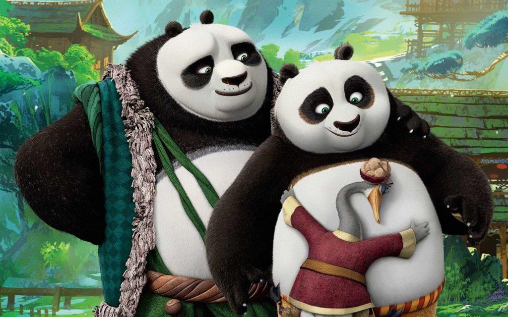 Kung fu panda 3 po's dads. обои скачать