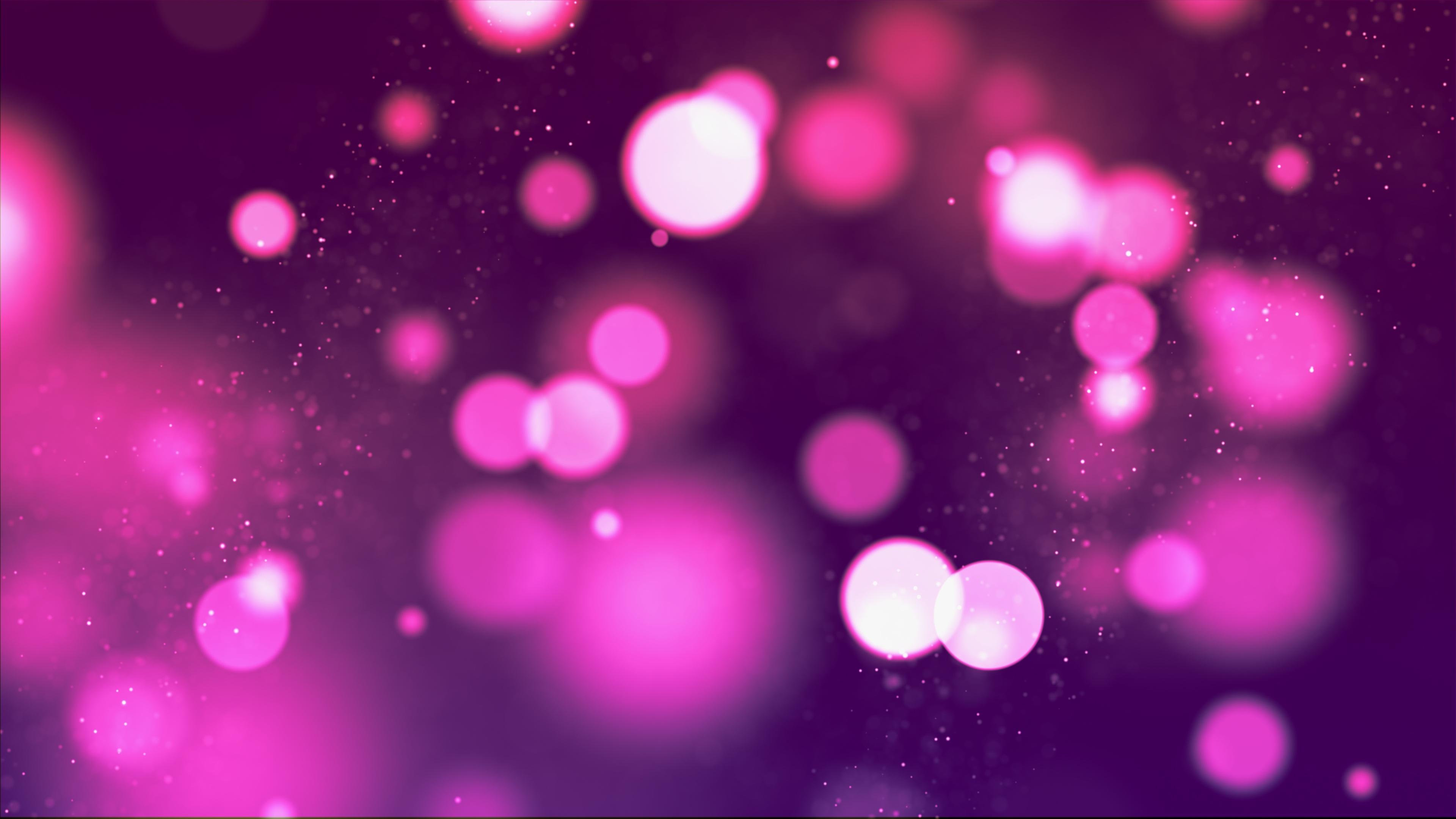 Розовые огни боке обои скачать