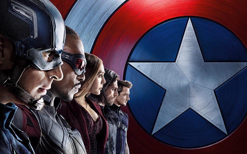 Капитан Америка команда гражданской войны. обои скачать
