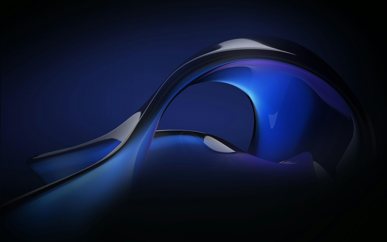 Abstract blue fluid. обои скачать