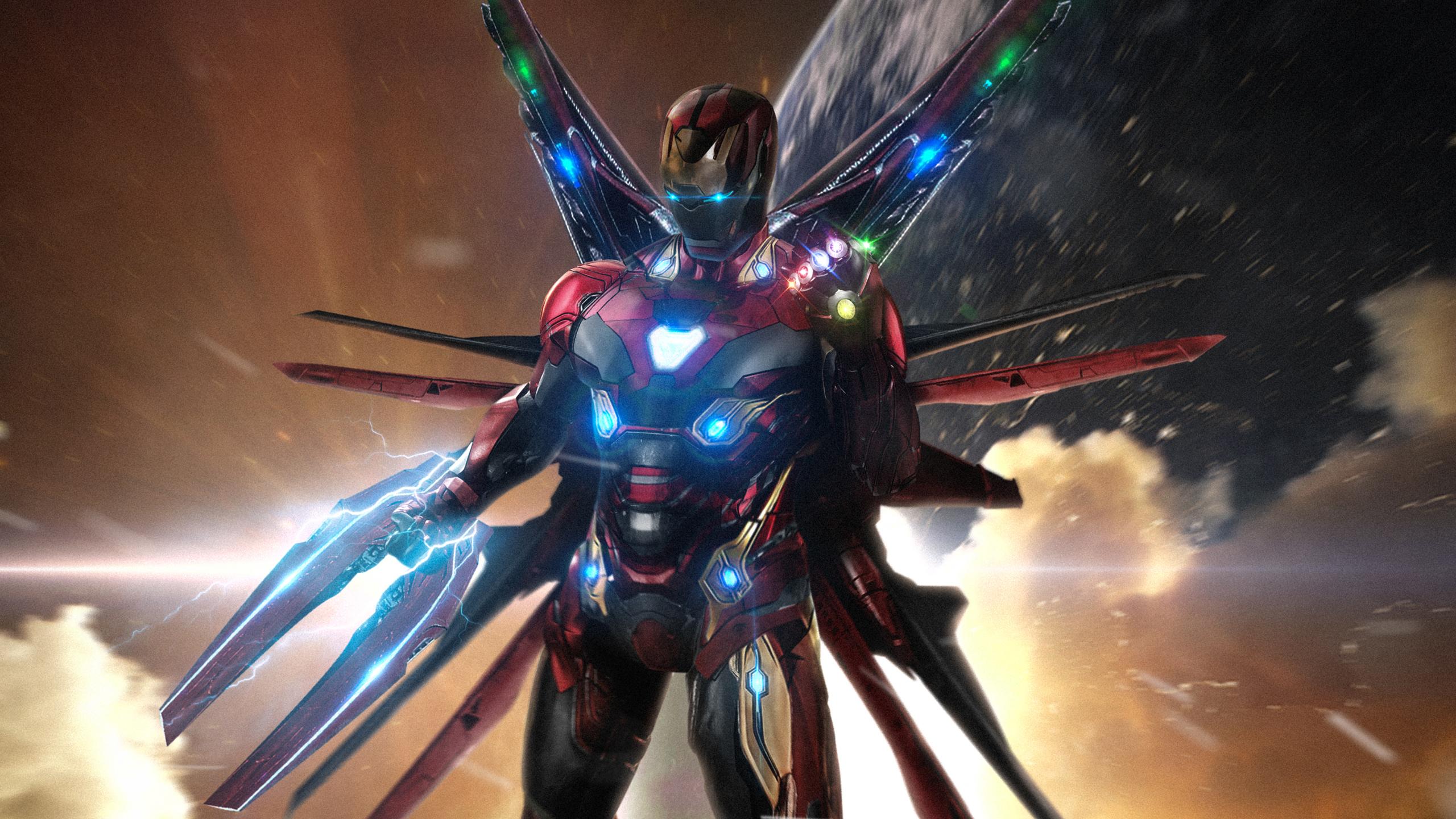 Железный человек в avengers 4 обои скачать