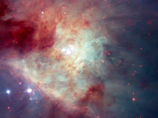 Туманность Ориона мозаики Хаббл