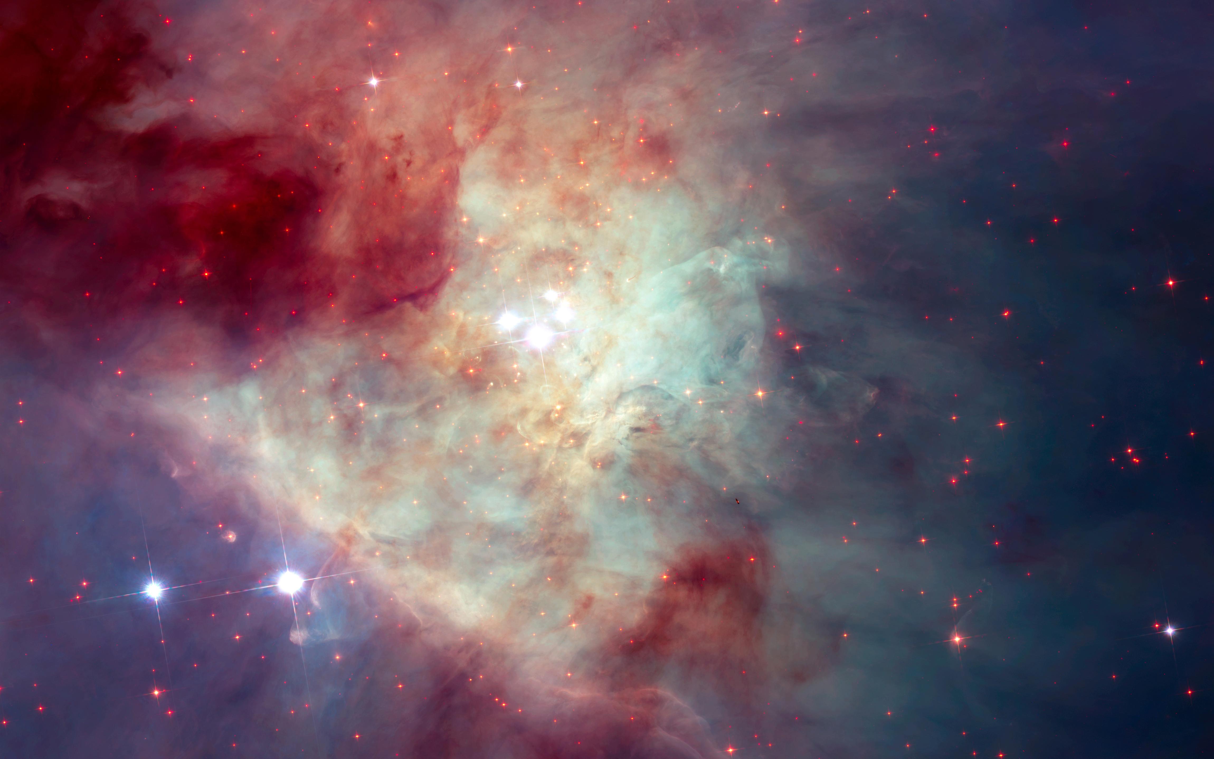Туманность Ориона мозаики Хаббл. обои скачать