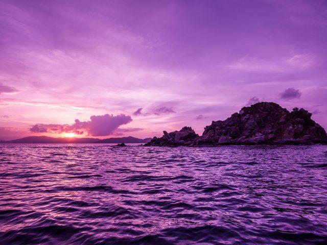 Британские Виргинские острова закат.