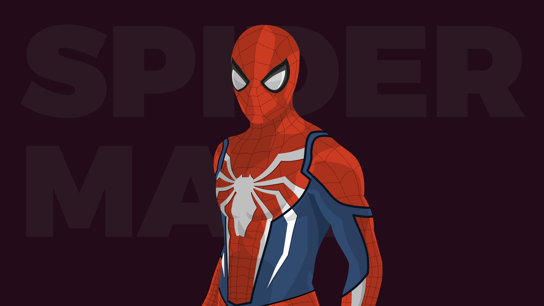 Человек-паук минимальное художественное произведение обои скачать