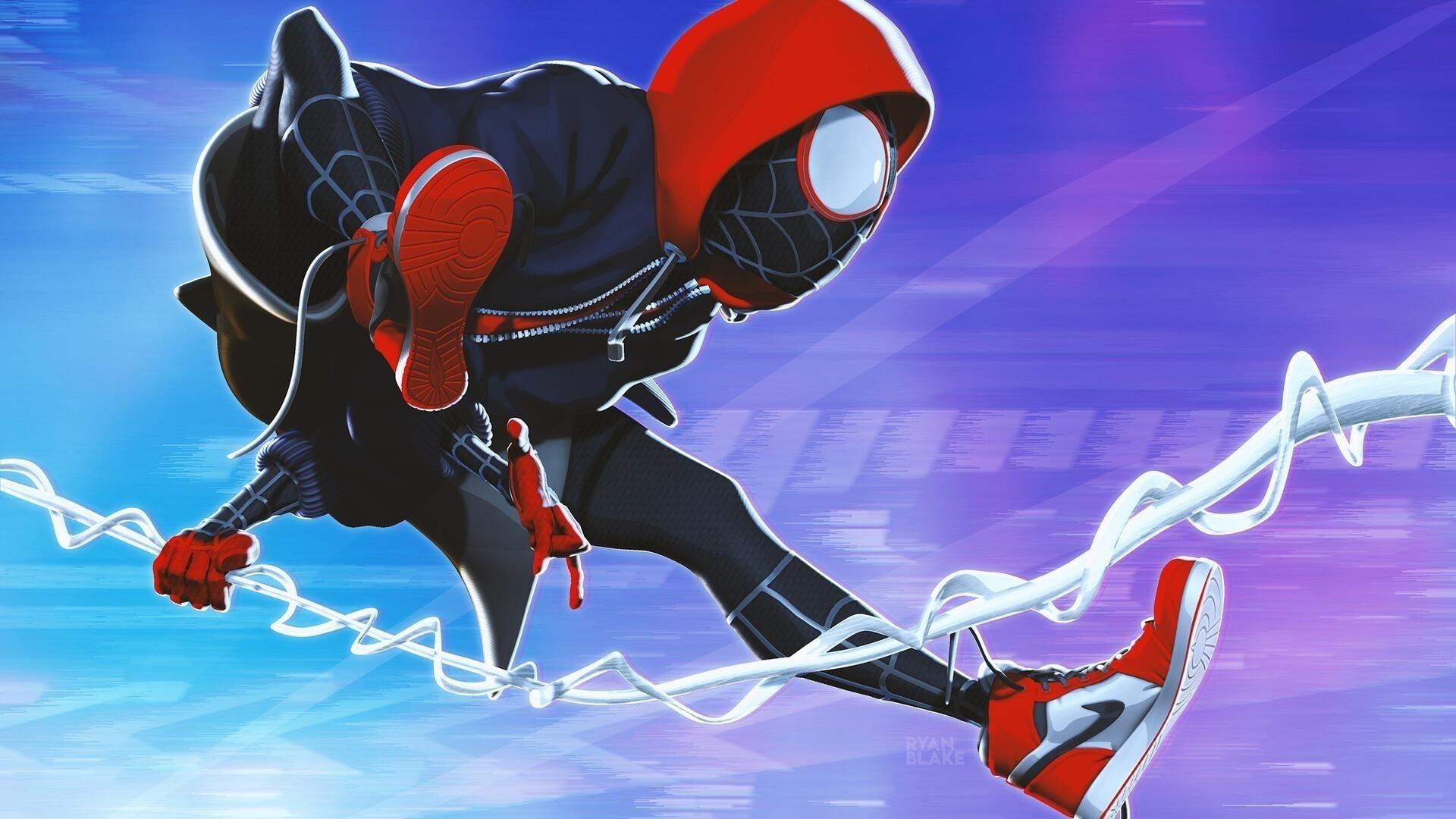 Майлз Моралес Человек-паук обои скачать