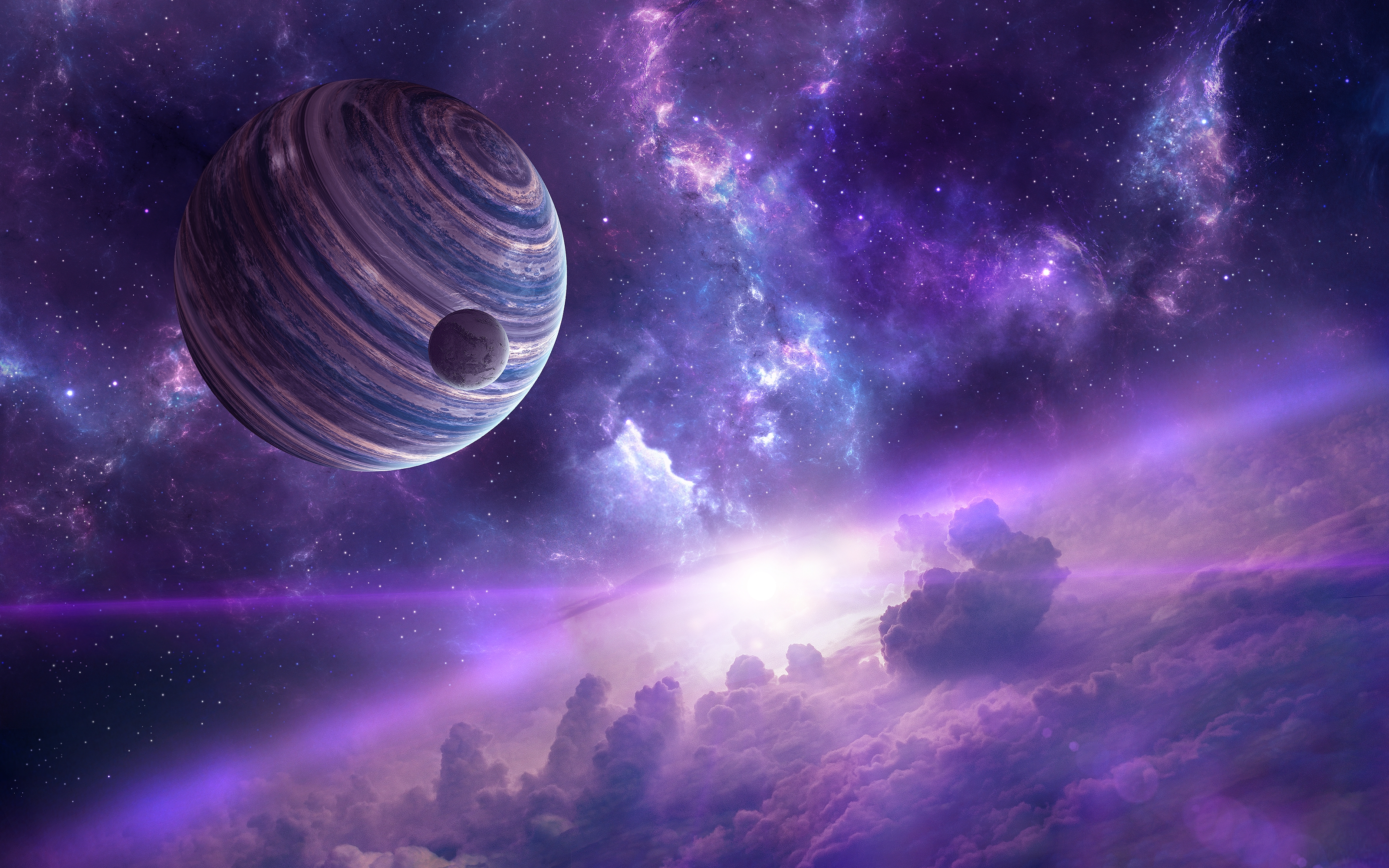 Nebula planets. обои скачать
