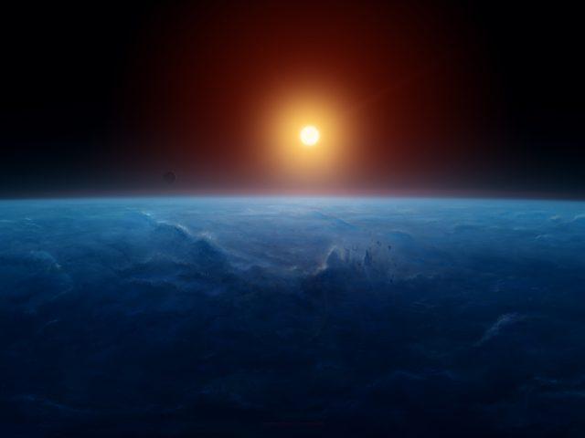 Восход горизонт земли 8к.