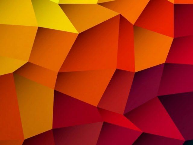 Желтый оранжевый красный цвета геометрия hd абстракция