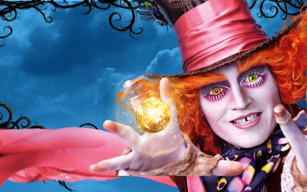 Джонни Депп Алиса в Зазеркалье. обои скачать