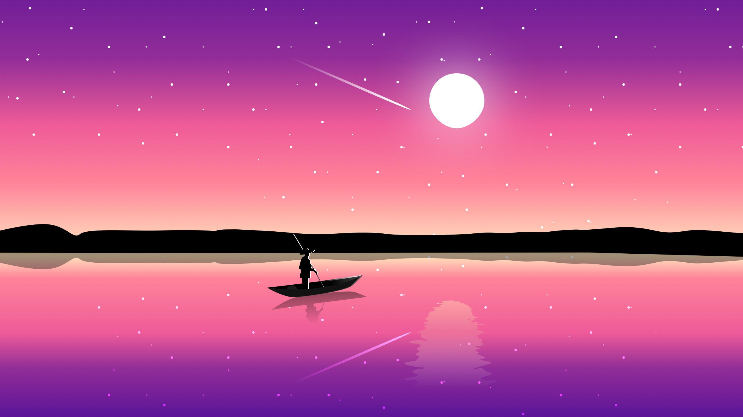 Иллюстрация заката обои скачать