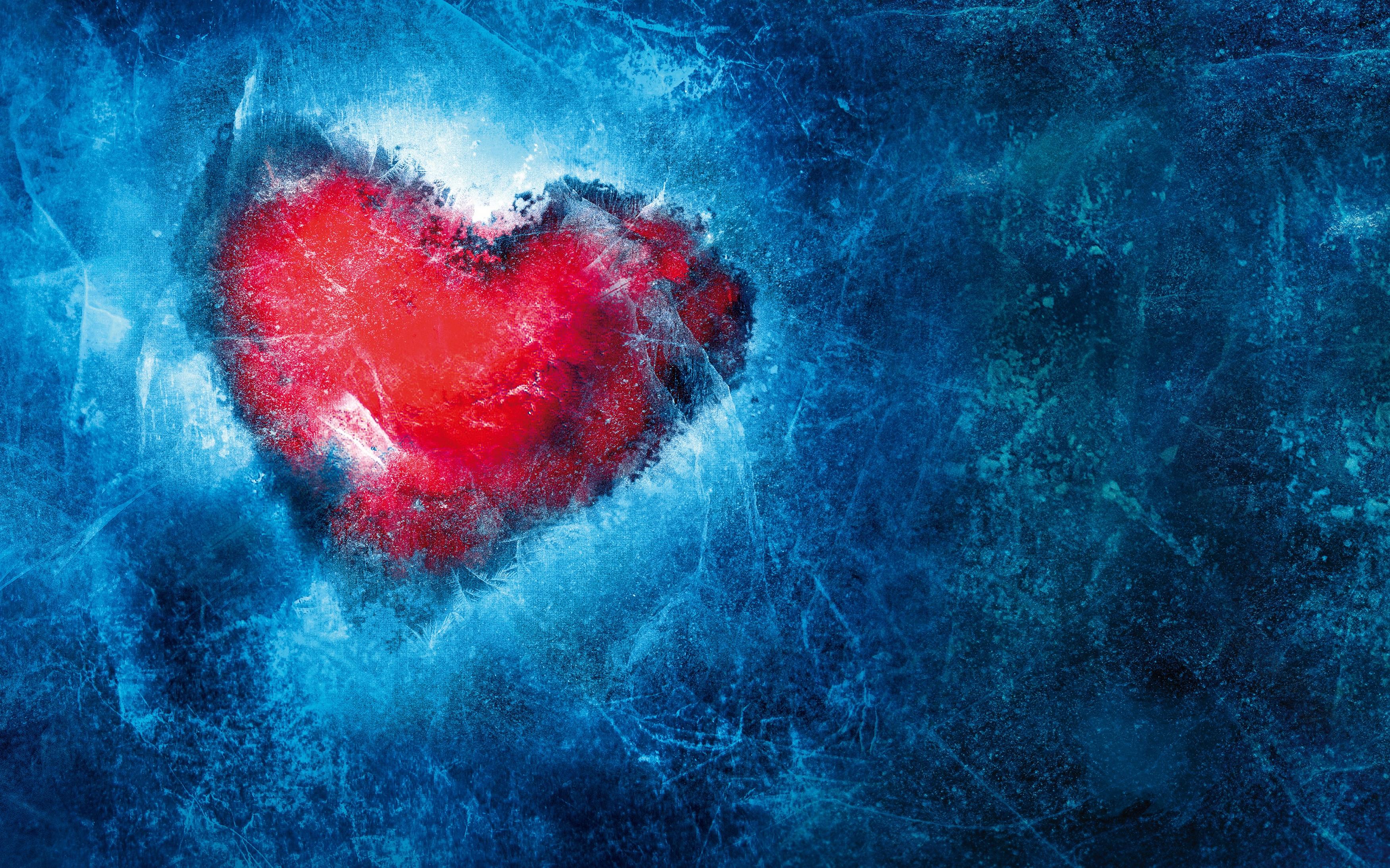 Замороженное сердце любви обои скачать
