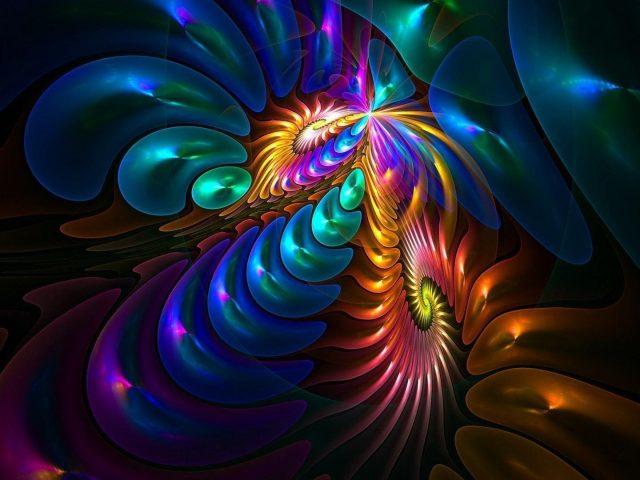 Красочные фрактальные художественные формы абстракция абстракция