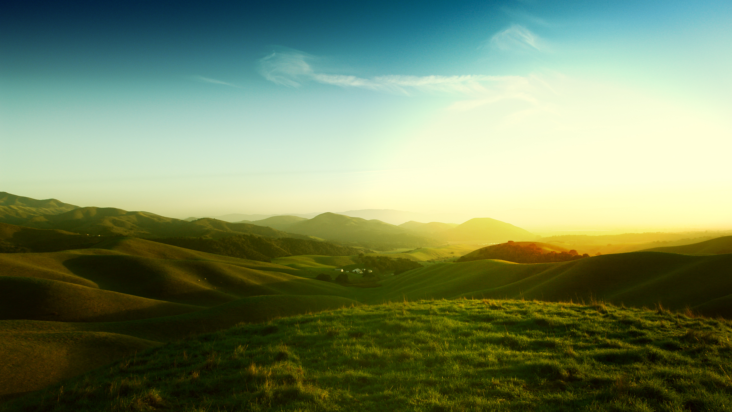 Пейзажи калифорнийские холмы обои скачать