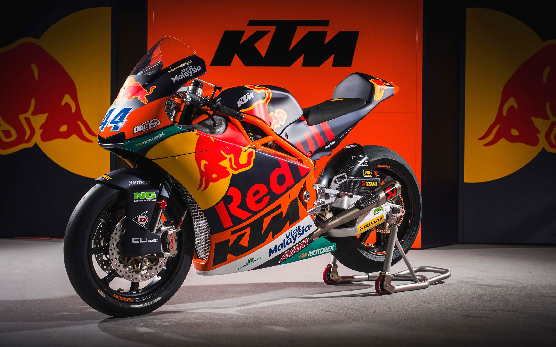 КТМ в moto2 MotoGP гонки велосипед 4к. обои скачать