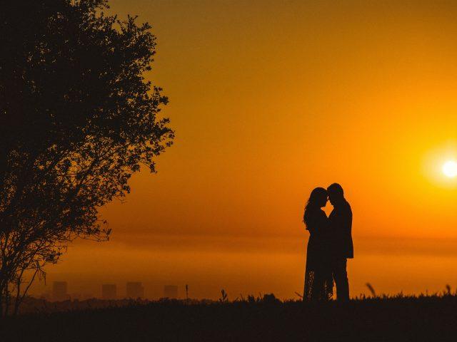 Пара романтический закат