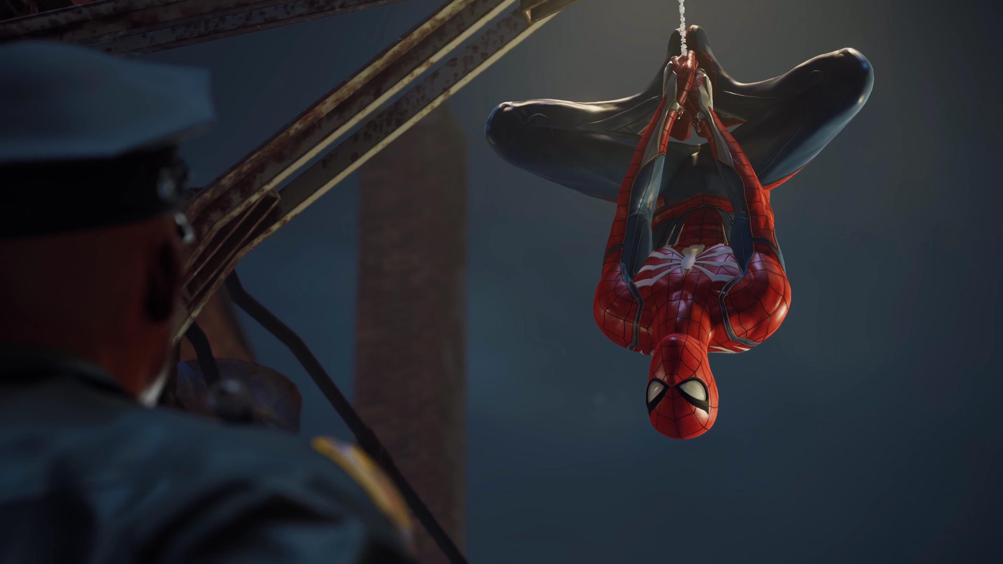 Человек-паук PS4 обои скачать