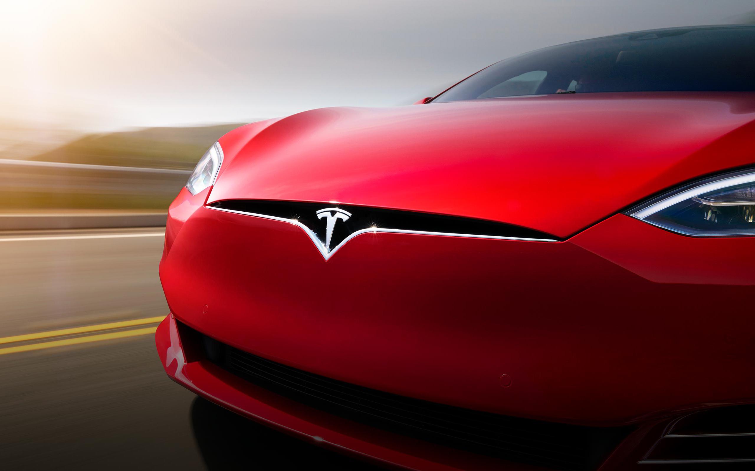 Tesla model s. обои скачать