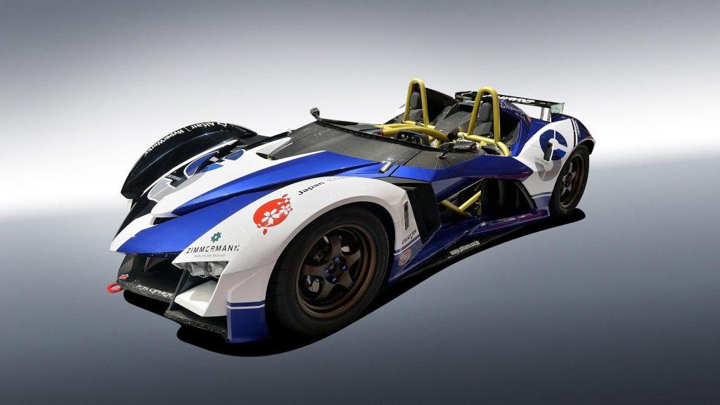 Белый голубой понятие phiaro Р75 гоночного автомобиля легковые автомобили обои скачать