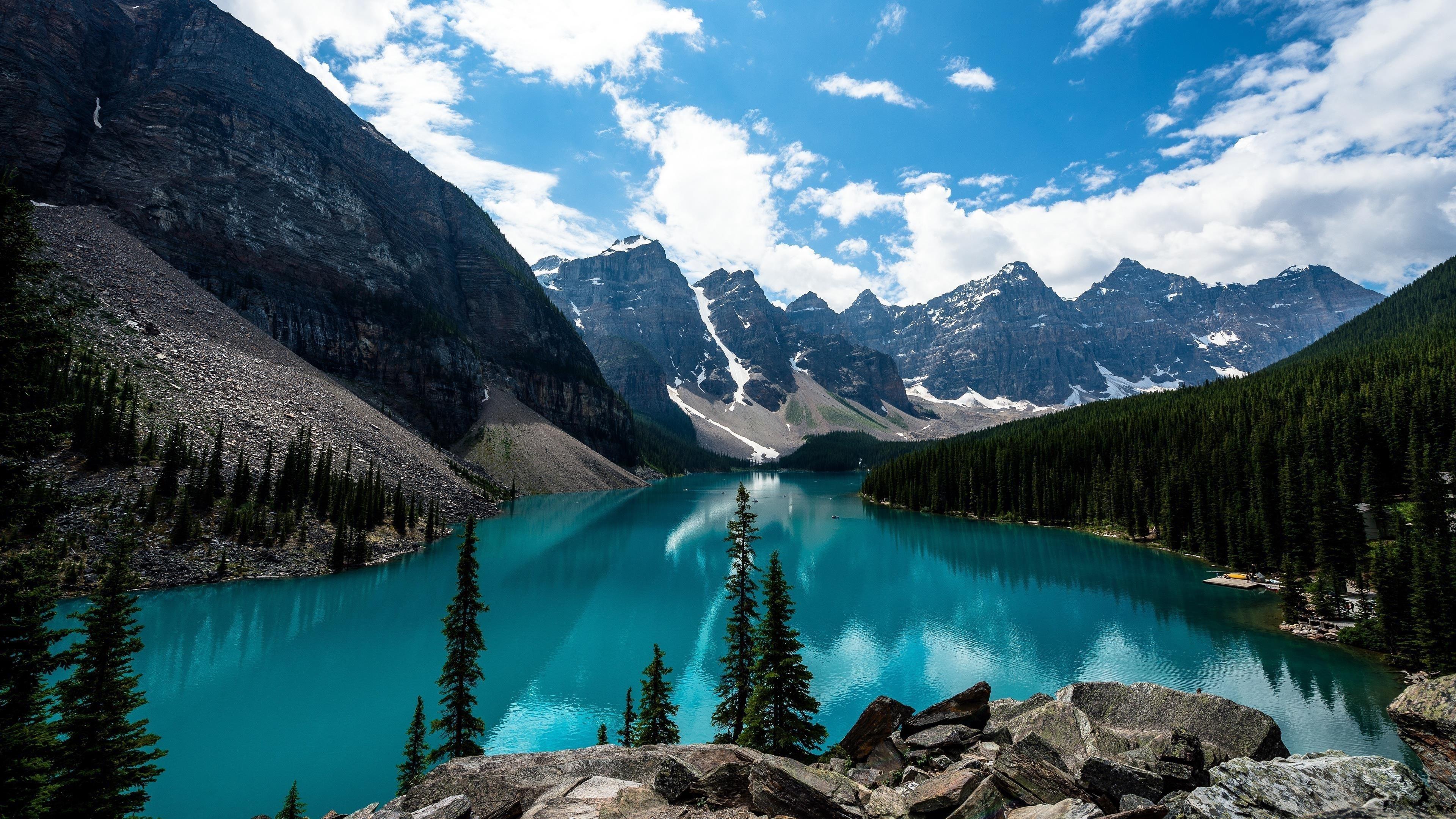 Горы вершины озер Снежная долина обои скачать