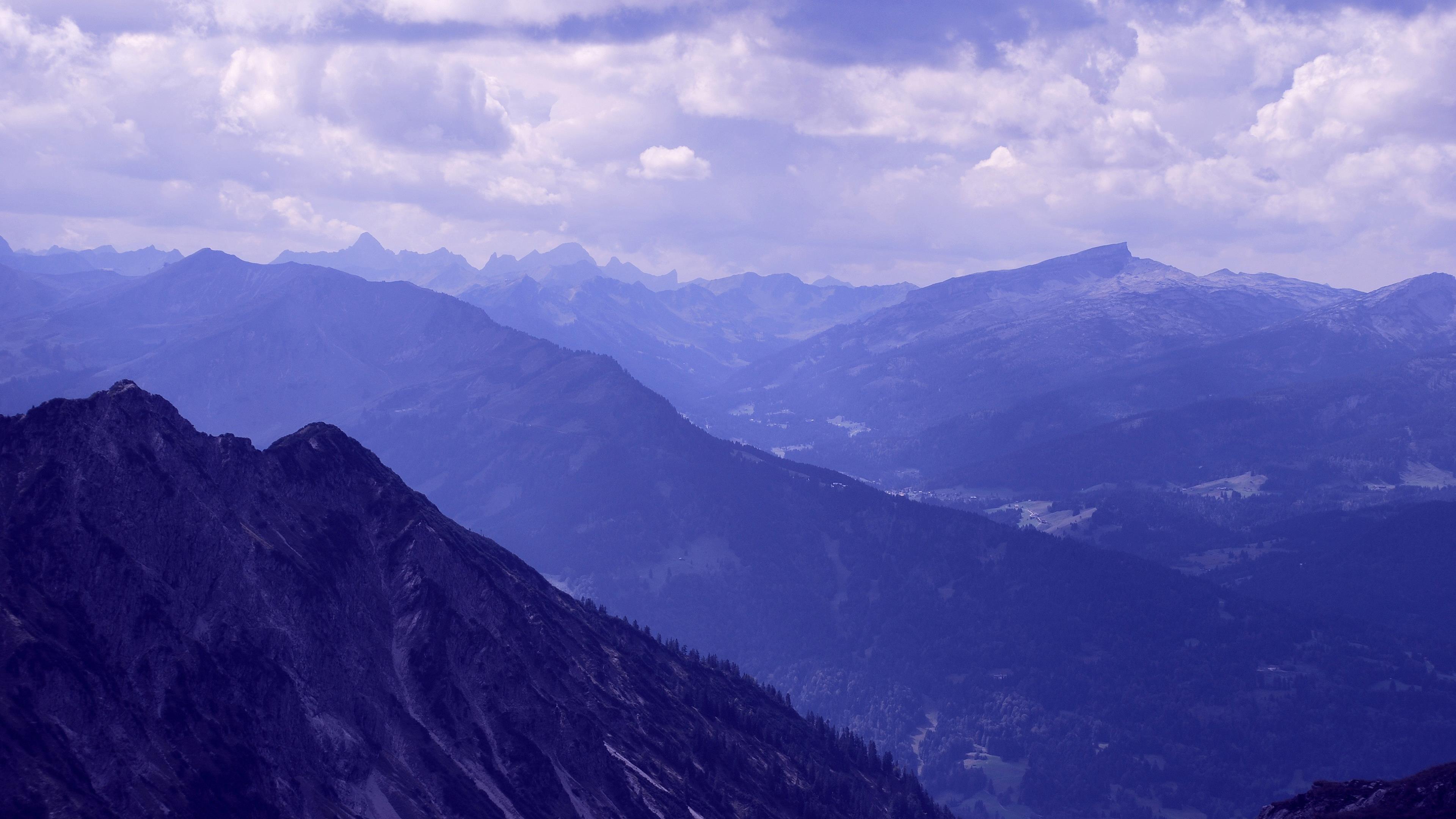 Горы альгойских Альпах обои скачать