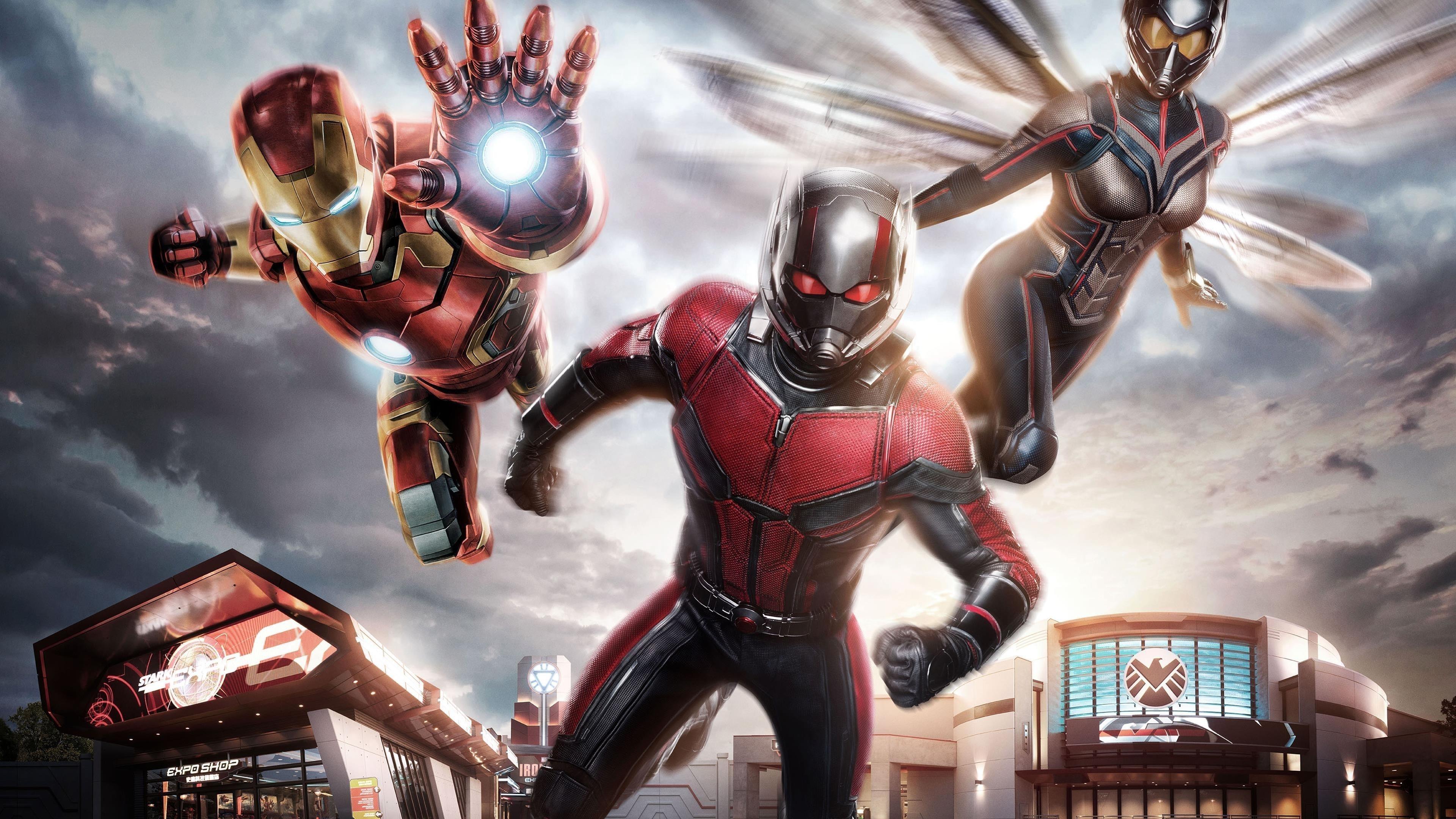 Железный Человек муравей-Человек Оса обои скачать