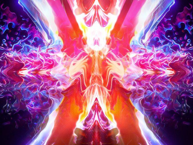 Горящее абстрактное пламя