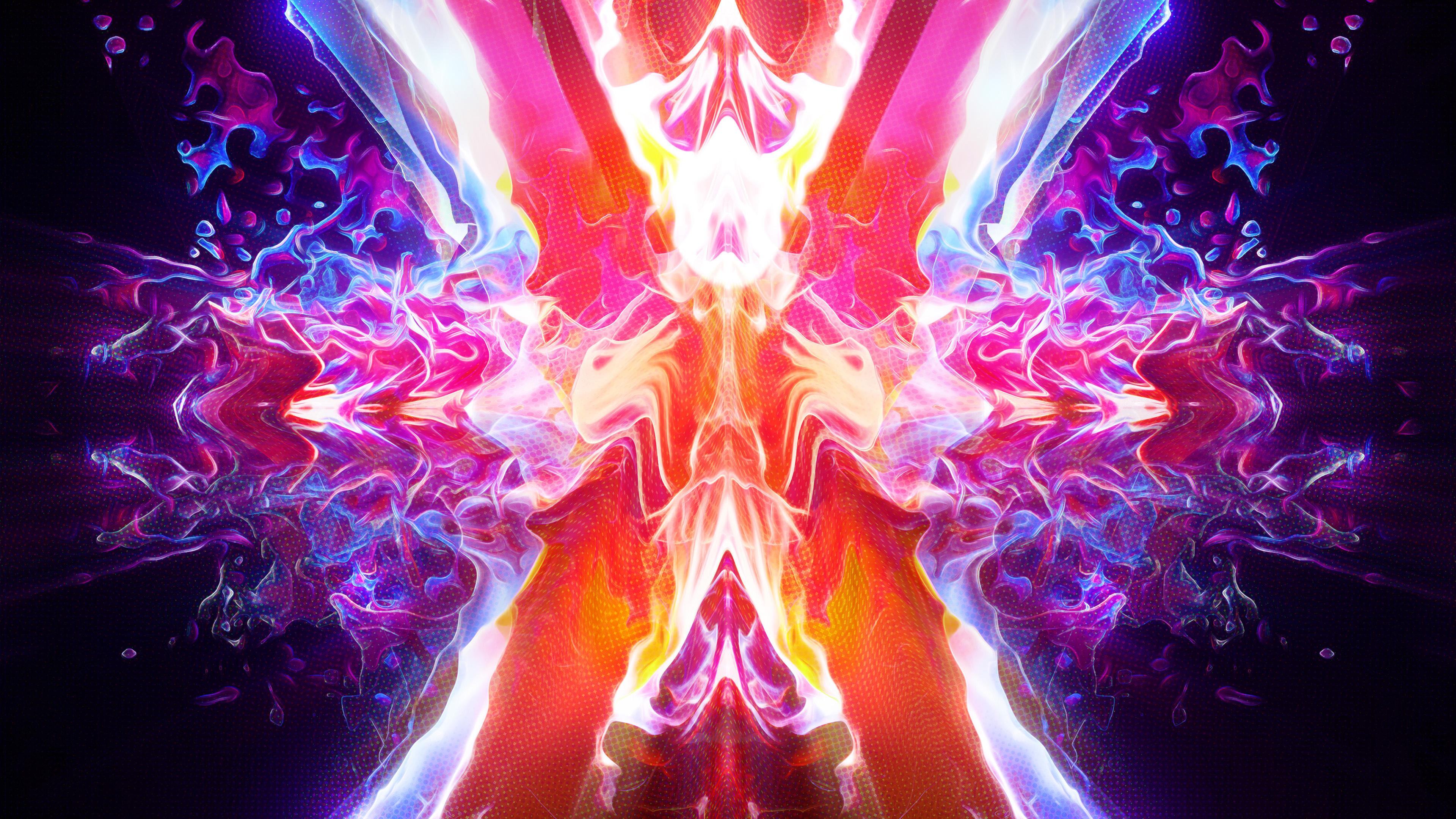 Горящее абстрактное пламя обои скачать