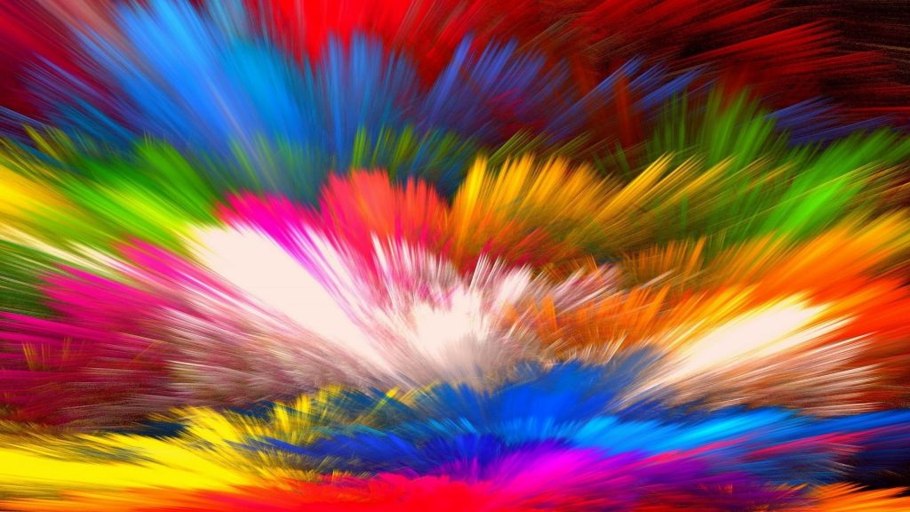 Красный и разноцветный фон краски абстрактные абстрактные обои скачать
