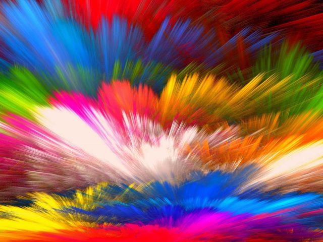 Красный и разноцветный фон краски абстрактные абстрактные