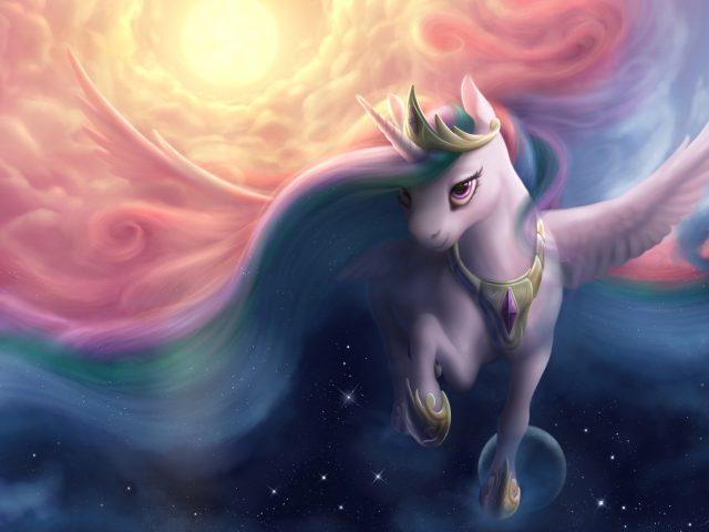 Принцесса луна аликорн мой маленький пони дружба магия