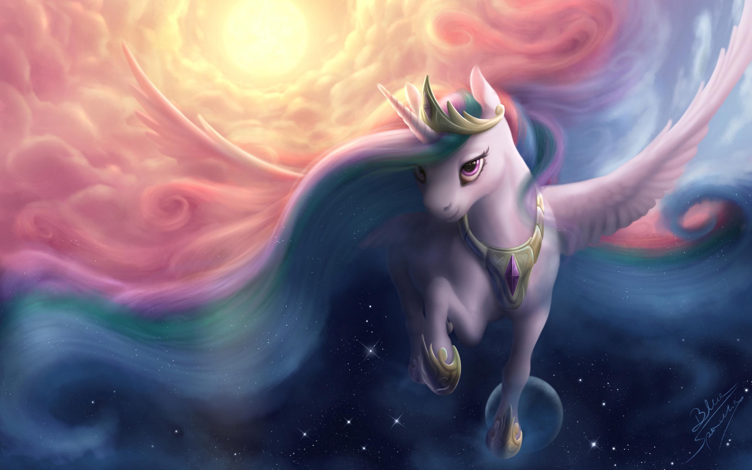 Принцесса луна аликорн мой маленький пони дружба магия обои скачать