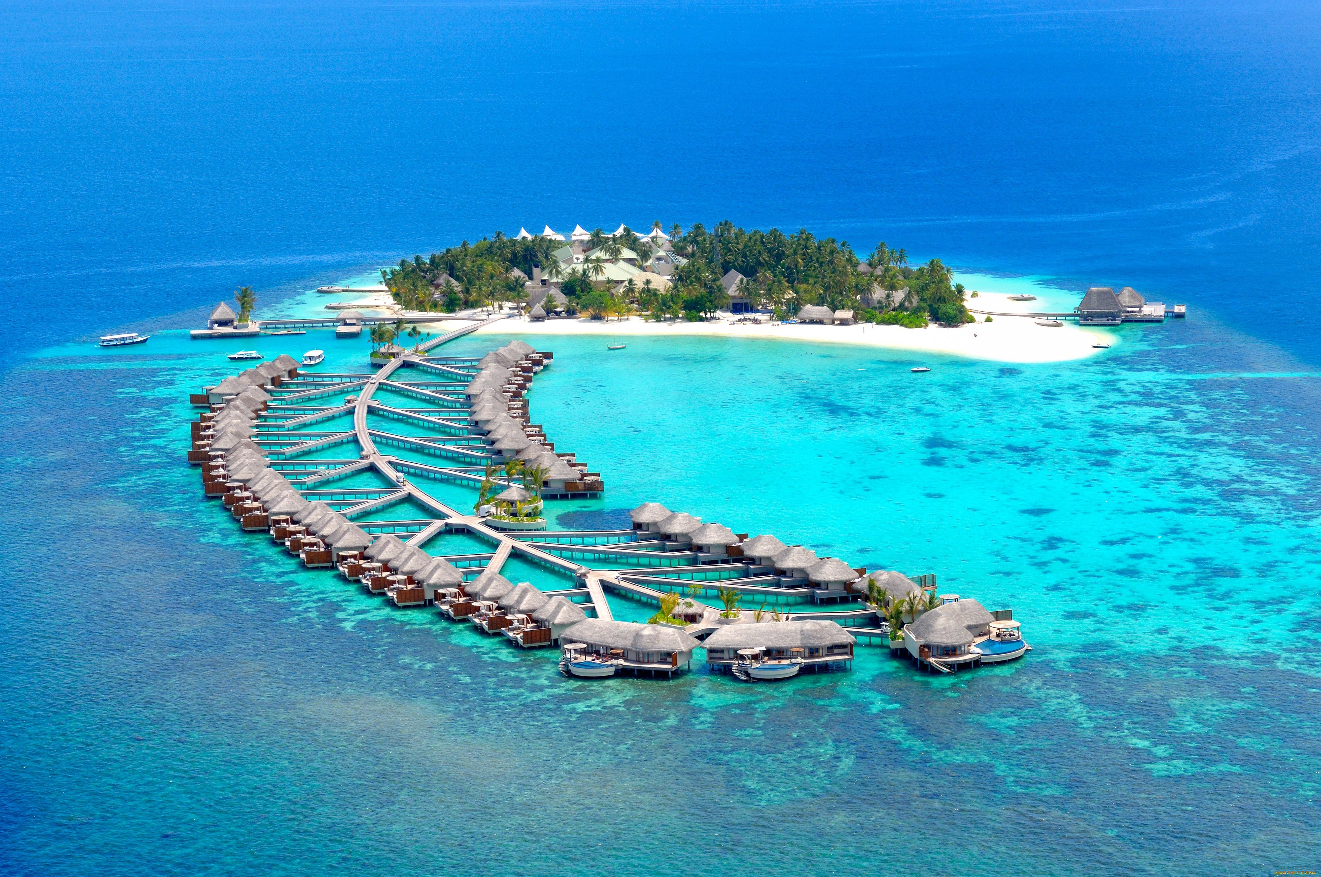 Океан, Мальдивы, экзотика, природа обои скачать