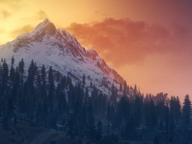 Ведьмак 3 дикая охота пейзаж горы