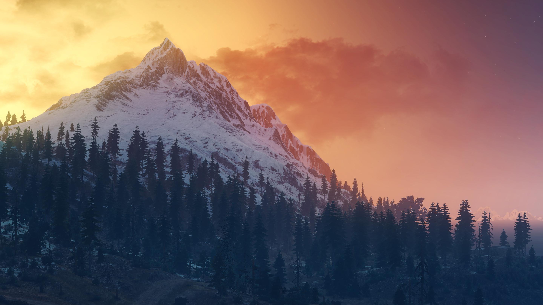 Ведьмак 3 дикая охота пейзаж горы обои скачать