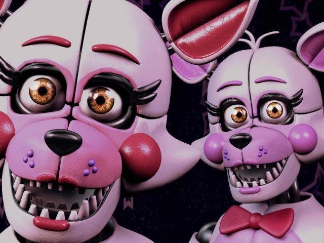 Две f foxy five nights at freddy's sister location fnaf