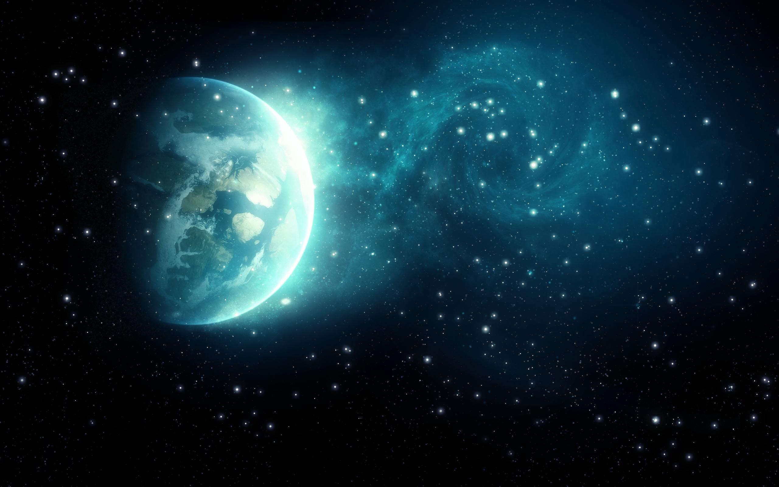 Галактика земля. обои скачать