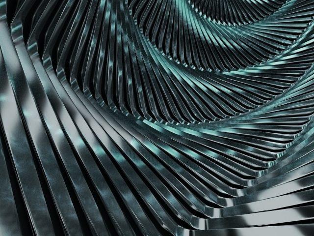 Спиральный серебряный металл