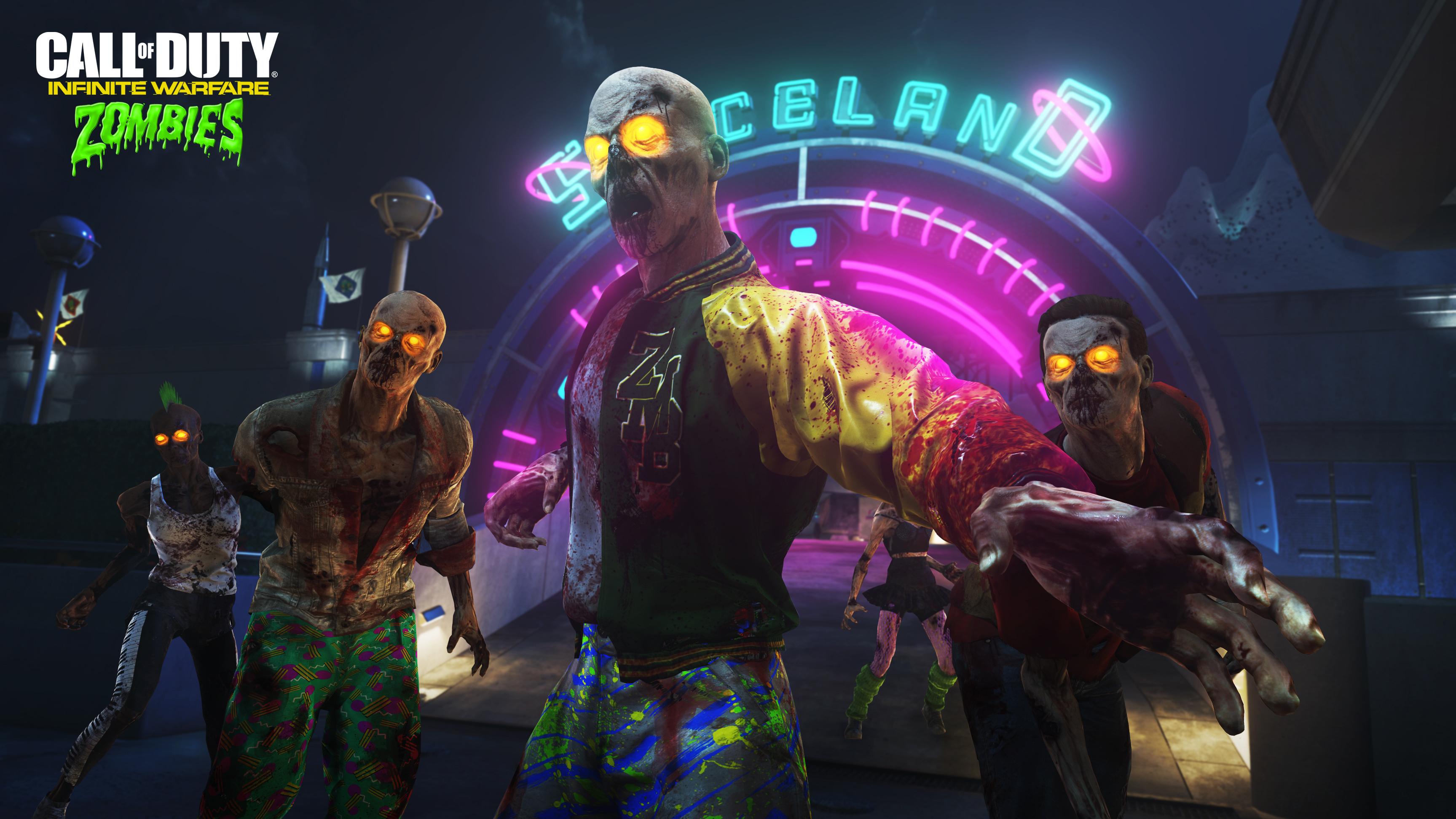 Call of Duty Infinite Warfare Zombies Spaceland обои скачать