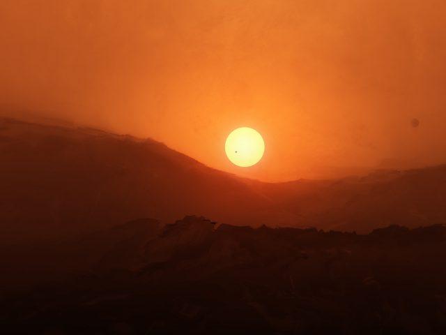 Восход Красной планеты