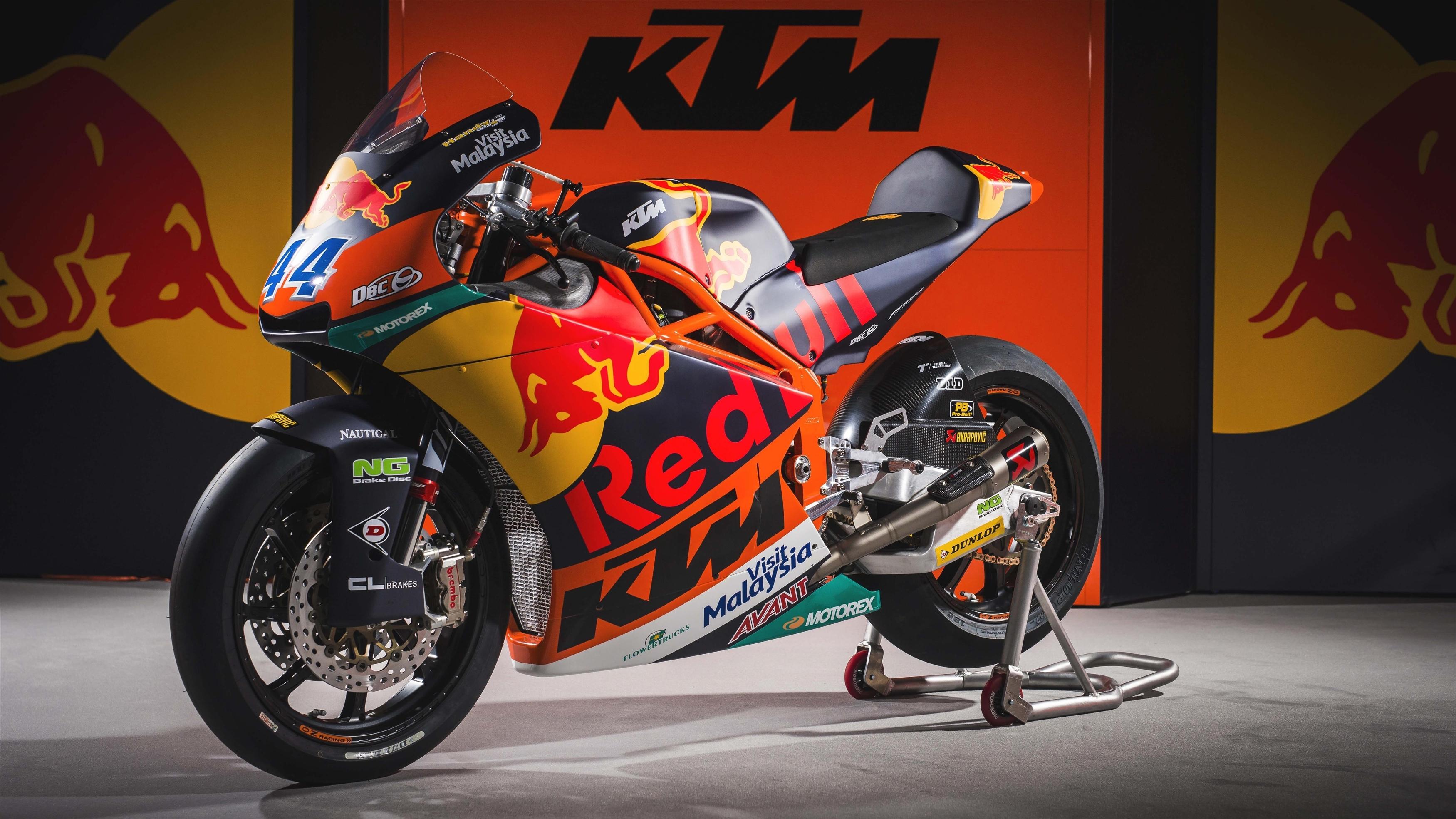 Велосипед команды motogp KTM moto2 обои скачать
