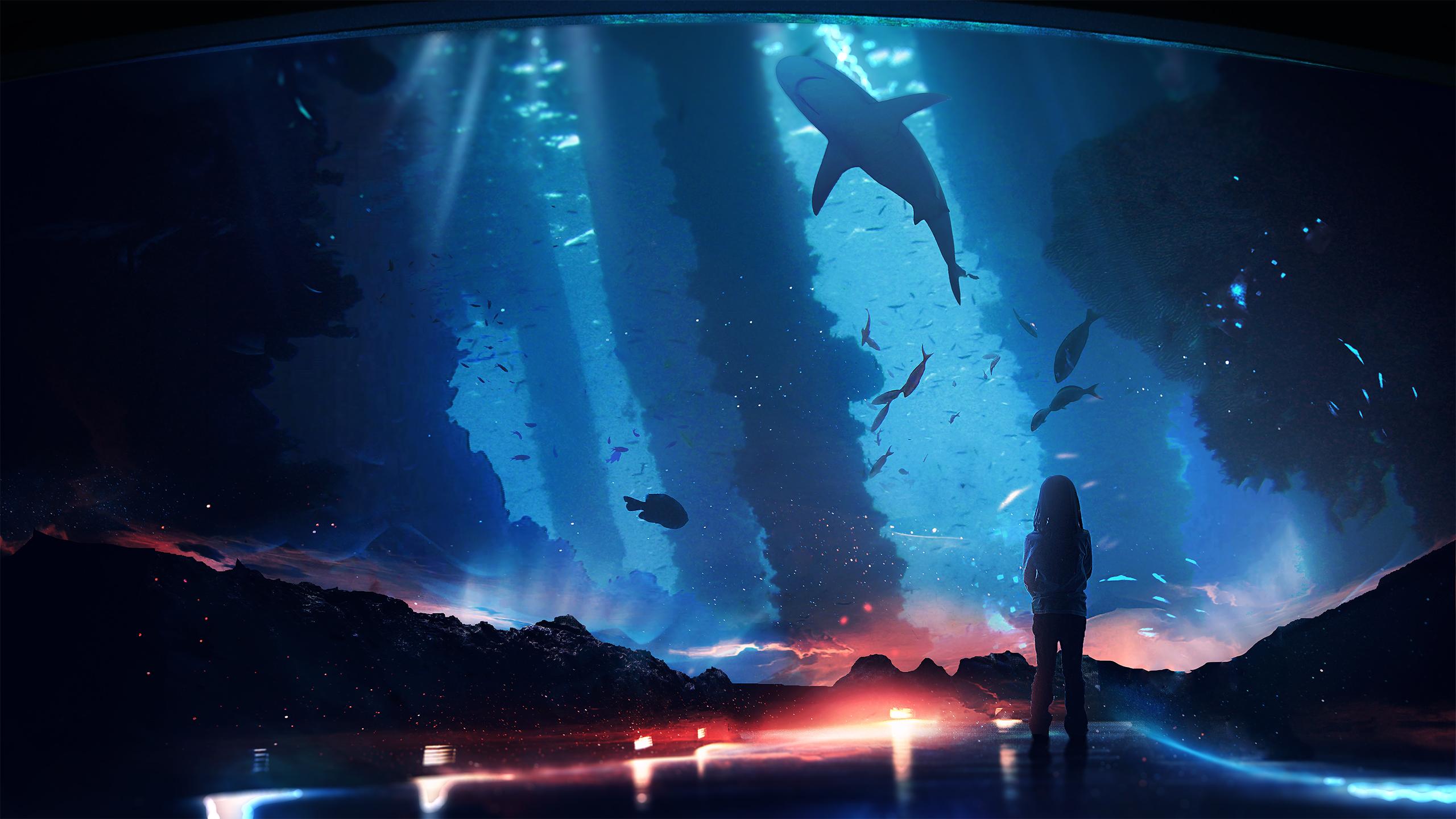 Океан под водой обои скачать