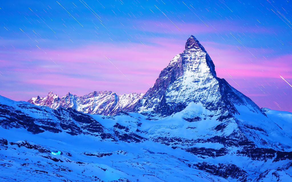 Маттерхорн-гора в Европе. обои скачать