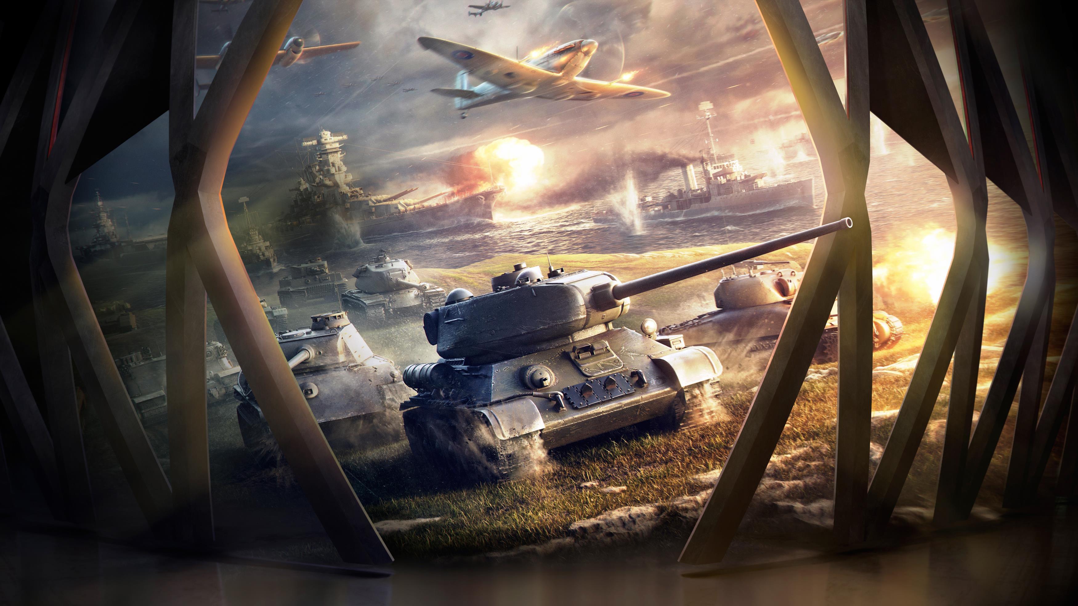 Мир танков блиц 4к обои скачать