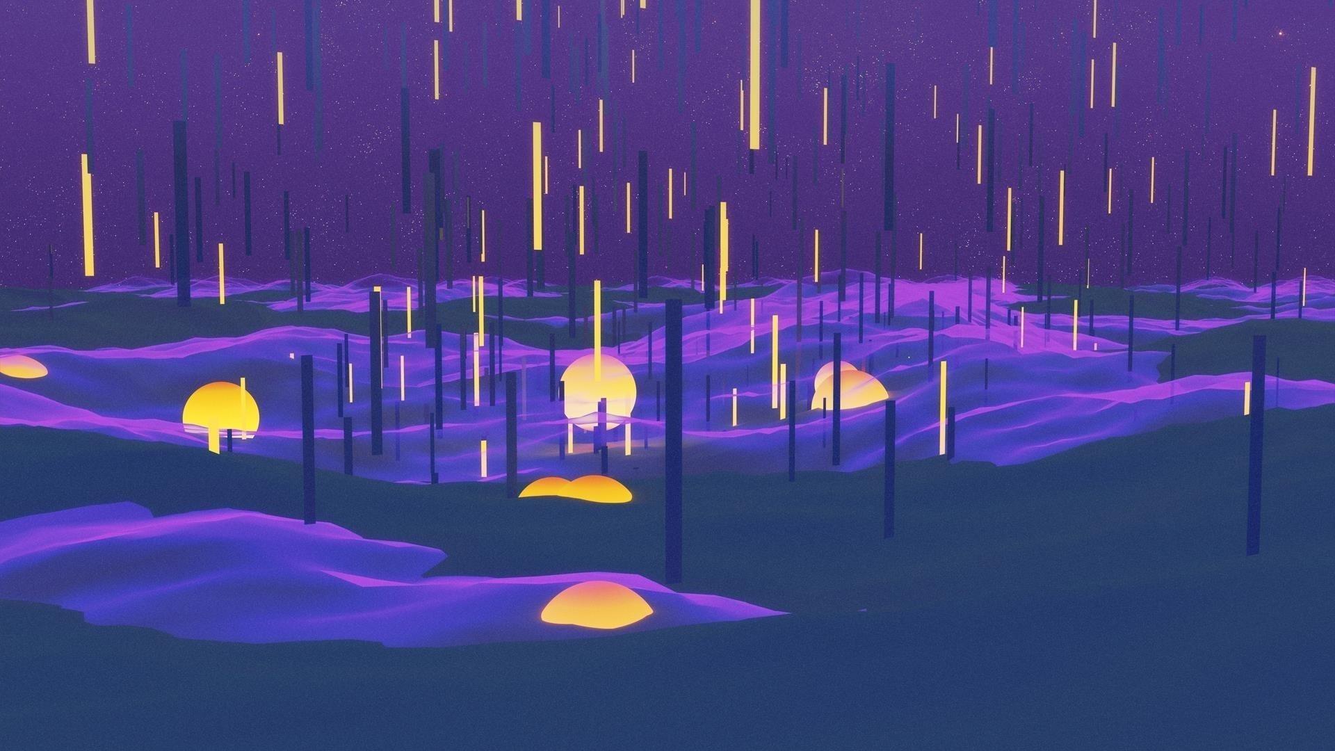 Абстрактный дождь обои скачать