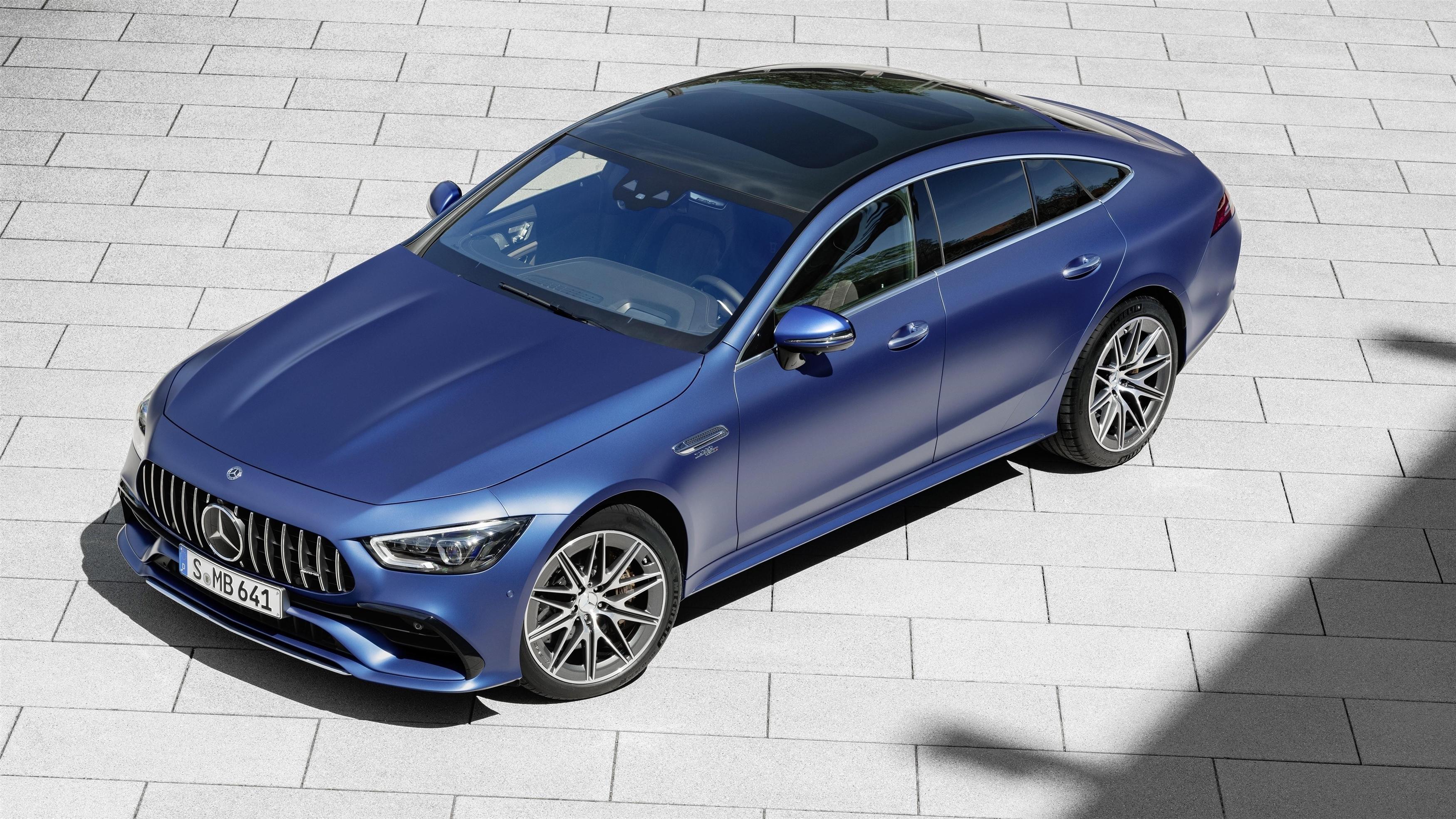 Mercedes amg gt 53 4matic 4-дверное купе 2021 автомобили обои скачать